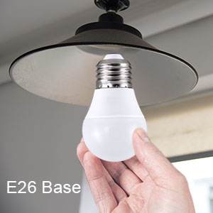 Electroniks 6W LED Energy Saving Bulb, Daylight, 60 Watt Equivalent, E26 Medium Screw Base Small Light Bulb Cool White 6500K, 540 Lumens. Ideal for Indoor and Outdoor use, Home and Office Lighting, Decorative Ceiling Fan and Lamps - CH87252