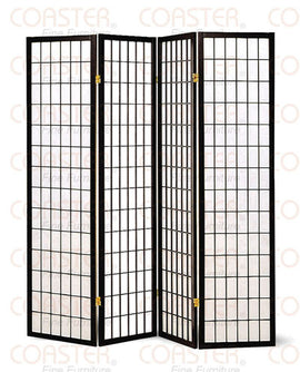 Folding Screens Four Panel Folding Floor Screen 4624