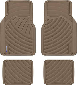 Michelin Rubber Floor Mats 4 pcs All weather rubber mat set, black, 4 Piece is a four piece all weather rubber floor mat set with two fronts and two rears designed to protect your vehicle's flooring from spills, mud, Snow, rain and debris-9800980