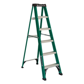 Louisville Ladder 6 ft This non conductive Louisville Ladder 6' Fiberglass Ladder is essential for tasks related to electrical maintenance, indoors and out, at home or at the jobsite -399382