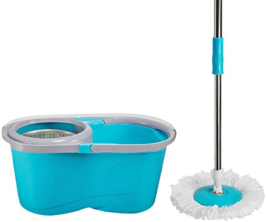 Telescopic Drying Washing Multi- Function Rotary Mop Blue- 2001333