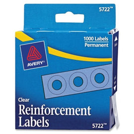 Avery Hole Reinforcements, White, 1000/Pack, PK - AVE05720 : Paper Reinforcements : Office Products