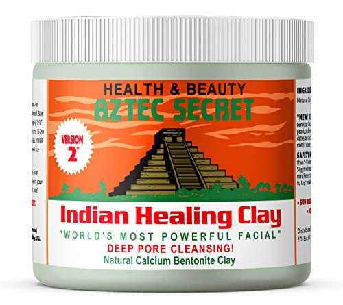 Aztec Secret - Indian Healing Clay - 1 lb. | Deep Pore Cleansing Facial & Body Mask | The Original 100% Natural Calcium Bentonite Clay - New! Version 2 : Facial Masks : Beauty