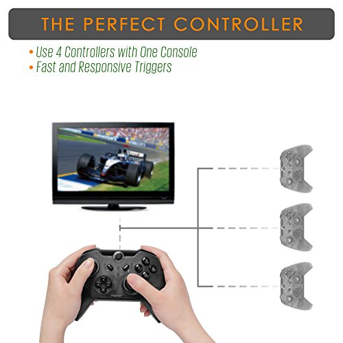 Insten Wireless Pro Controller for Nintendo Switch, Insten Wireless Pro Gaming Controller Bluetooth Gamepad Joypad Remote Compatible With Nintendo Switch / Lite Version, Black (with USB charging cable: Video Games