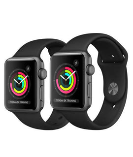 Apple Watch Series 3/Apple/ 395965 /Apple Watch Space Gray Aluminum Case with Black Sport Band