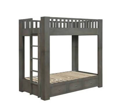 Wenco Twin/Twin Bunk Bed With 3-Drawer Storage Antique Grey - 461308