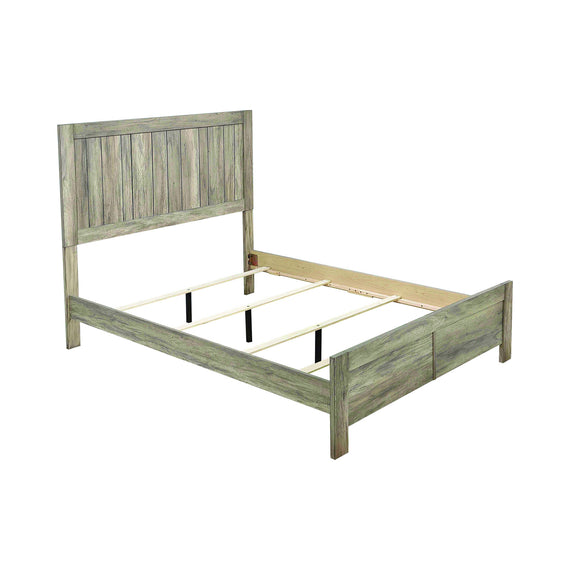 Adelaide Eastern King Wood Panel Bed Rustic Oak - 223101KE