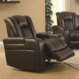 Delangelo Power^2 Recliner With Cup Holders Brown - 602306P