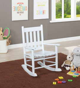 Slat Back Youth Rocking Chair White - 609450