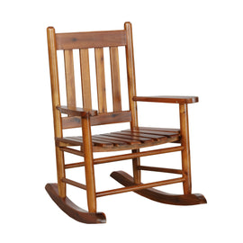 Slat Back Youth Rocking Chair Golden Brown - 609452