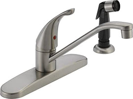 Peerless Classic Single Handle Kitchen Faucet, Stainless- P115LF-SS