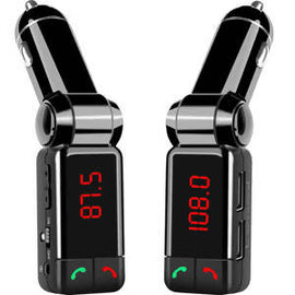Agiler Bluetooth FM transmitter with wireless calling and two USB ports - AGI-10529