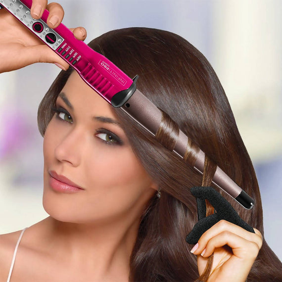 InfinitiPRO by Conair The Power of Pink Tourmaline Ceramic 1-inch to ½-inch Curling Wand - C-CD117RR