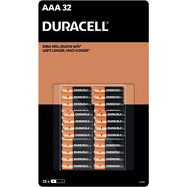 Duracell AAA Alkaline Batteries 32 Units - Duracell alkaline batteries are designed and developed for long lasting performance - 485476
