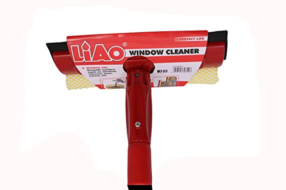 "LIAO Window Cleaner with 9"" Head & 75-125CM Telescopic Handle- B130003"