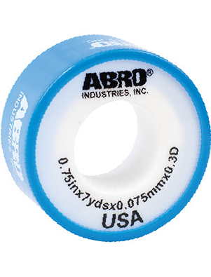 "ABRO PTFE Thread Seal Tape Light Blue for Water Pipes 0.75""x10Y ()"