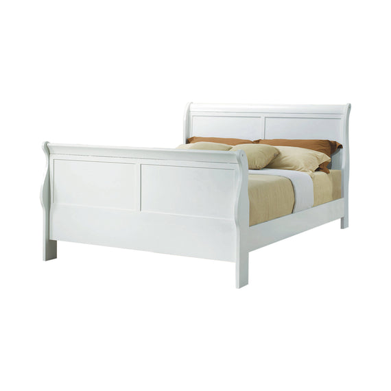 Louis Philippe Queen Sleigh Panel Bed White - 204691Q