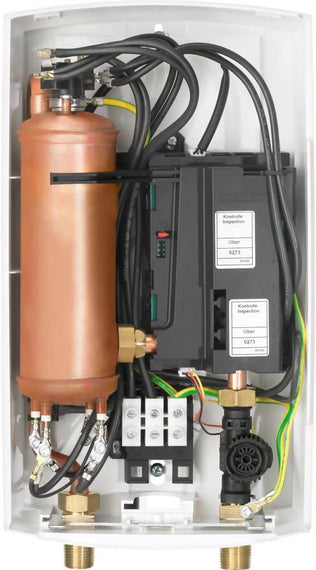 Stiebel Eltro Tankless Electric Water Heater is a powerful, flexible, point-of-use water heating solution. DHC-E can deliver hot water to a single sink, multiple sinks, or in certain conditions, low-flow showerheads - DHC-E12 / DHC-E10