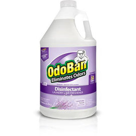 Odoban Disinfectant Cleaner 1 Gallon Kills 99.99% of germs. Lavender scent. Multi-purpose cleaner suitable for: pet odors, sanitize surfaces, carpets, water damage, counters, floors, bathroom. /379718