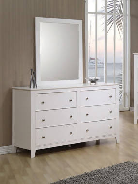 Selena Rectangular Dresser Mirror White - 400234