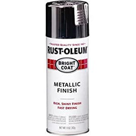 Rust-Oleum Bright Coat Chrome Metallic Spray Paint, Rich and Shiny Finish, Fast Drying, Any Angle Spray Nozzle with Comfort Tip, 11oz. Ideal for Metal, Wood, Concrete, Masonry and More - 7718830