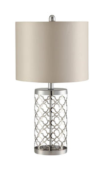 Drum Table Lamp Light Gold And Beige - 901314