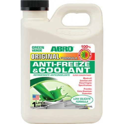 ABRO 100% Anti-Freeze and Coolant AF-504-1L (MMUSA357) Gallon