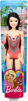 Barbie Doll, Brunette in Pink Swimsuit - GHW38-RA10-28A