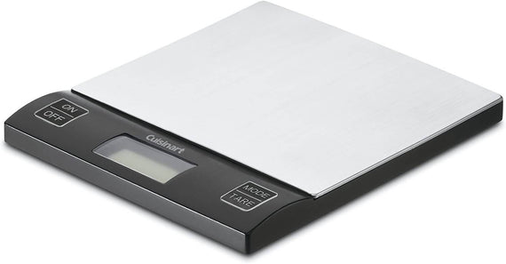 Cuisinart BalancePro Digital Kitchen Scale provides a simple, efficient way to weigh common food items. It's easy to control portions and bake with greater consistency with the large easy to read digital screens and easy to clean touchpad style- CU-KML-15