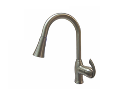 Aquarius Brushed Nickel PVD Single Handle Pull-down Kitchen Faucet - F0504501102