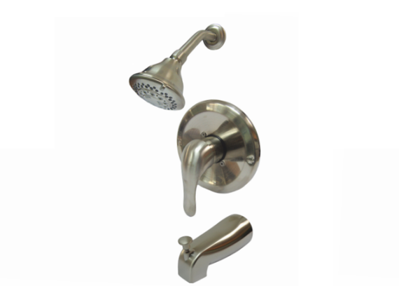 Aquarius Brushed Nickel PVD Pressure-balanced Bathtub & Shower Mixer - F0504504301BN