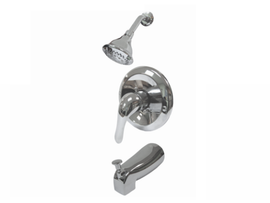 Aquarius Pressure-Balanced Bathtub & Shower Mixer Chrome PVD 5 Ways Function Shower Head Pressure Balancing Shower System- F0504504301CP
