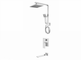 Aquarius Mixer Tub / Shower AQUA Square With Swivel - Tap & Hand Spray - AQUA151