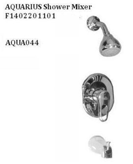 Aquarius Polished Chrome Bathtub & Shower Mixer - F1402201101-B