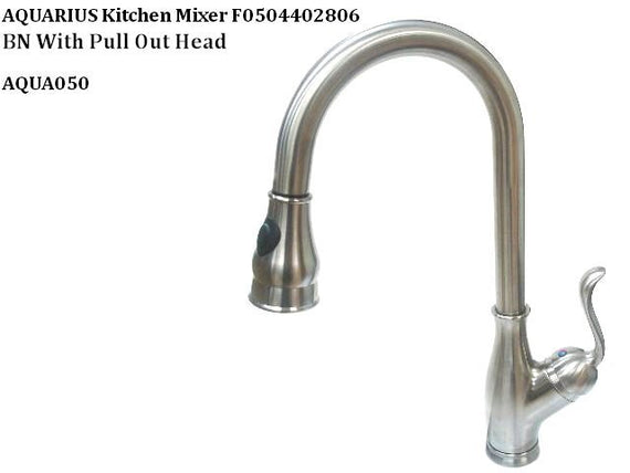 Aquarius Brushed Nickel PVD Single Handle Pull-down Kitchen Faucet - F0504402806
