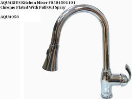 Aquarius Polished Chrome Single Handle Pull-down Kitchen Faucet - F0504501101