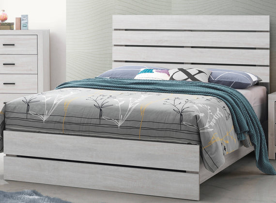 Marion Queen Panel Bed Coastal White - 207051Q