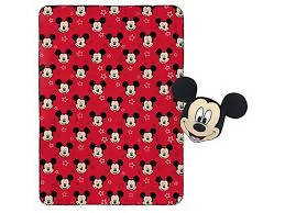 "Nogginz pillow and Plush blank set This Disney Mickey Mouse Nogginz and Plush Blanket Set features your child's favorite iconic Disney character, Mickey Mouse! The plush, super cozy 62"" x 90"" blanket features your child's favorite Disney character-35344"