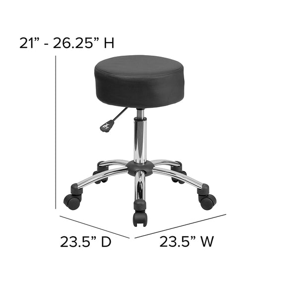 Medical Ergonomic Stool with Chrome Base [BT-191-1-GG]