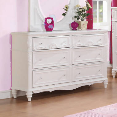 Caroline Twin Upholstered Panel Bed Pink And White 4PC Set - SET4PC400720T