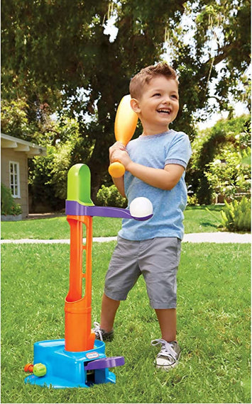 Little Tikies Triple Play T-Ball Set offers 3 different ways for kids to play baseball -64846