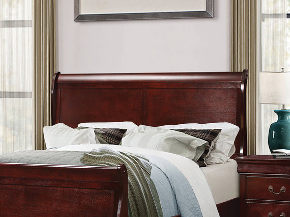 Louis Philippe Full Sleigh Headboard Cherry - 222411FH