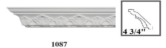 MOULDING Pattern Crown Moulding Polyurethane- 8FT LENGTH with 10 Designs