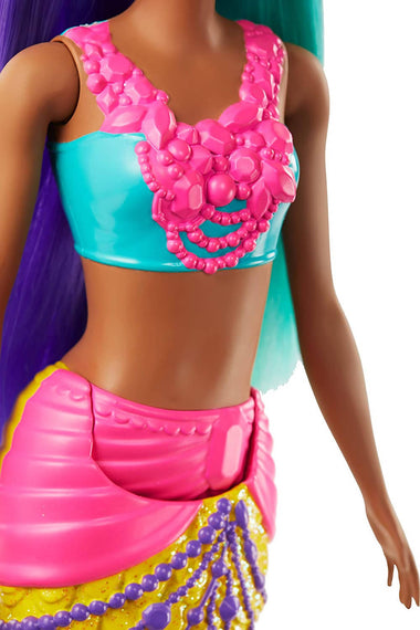 Barbie Dreamtopia 12 '' Mermaid Doll, Blue and Purple - GJK10-0910-DOM