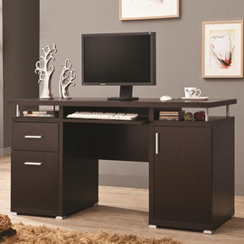 Tracy 2-Drawer Computer Desk Cappuccino - 800107
