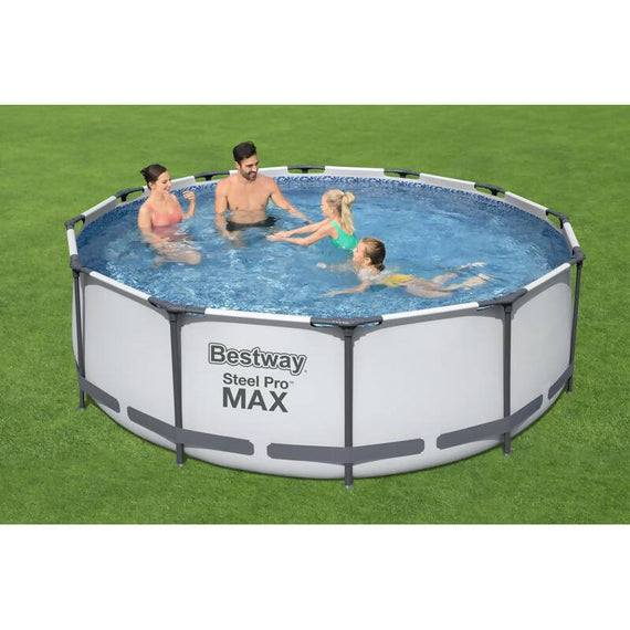 Steel Pro Max Pool The Bestway round tubular pool 3,66 x 1,22m is the perfect accessory to enjoy the summer with your friends and family -396483