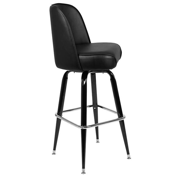 Metal Barstool with Swivel Bucket Seat [XU-F-125-GG]