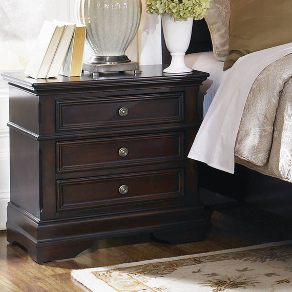 Cambridge 3-Drawer Rectangular Nightstand Cappuccino - 203192