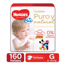 Huggies Natural Care Plus Diapers, 160 pack / S size Natural fibers: Huggies maximum skin protection. / 337960
