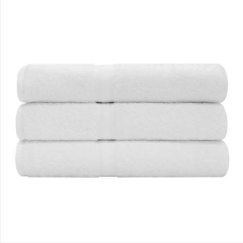 "Royal Excellence White Color 100% Cotton. Dimensions: 25"" × 52"". 3-unit package/ 827675"